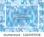 christmas glowing blue... | Shutterstock .eps vector #1262455528