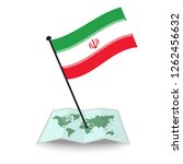 map with flag of iran isolated... | Shutterstock .eps vector #1262456632