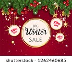 big christmas winter sale offer ... | Shutterstock .eps vector #1262460685