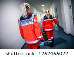 german paramedic runs in a...   Shutterstock . vector #1262466022