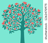 love tree. heart tree with pink ... | Shutterstock . vector #1262470975