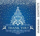 thank you card. beautiful...   Shutterstock . vector #1262475175