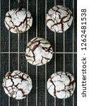 fresh baked chocolate crinkle... | Shutterstock . vector #1262481538
