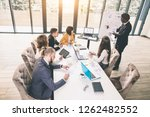 business people working as a... | Shutterstock . vector #1262482552