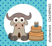 cute happy birthday card with... | Shutterstock .eps vector #1262489602