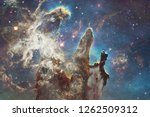 nebulae an interstellar cloud... | Shutterstock . vector #1262509312