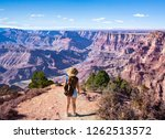 girl  on top of the mountain ... | Shutterstock . vector #1262513572