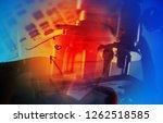 microscope in laboratory.... | Shutterstock . vector #1262518585