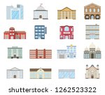 buildings set. buildings set.... | Shutterstock . vector #1262523322