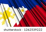 abstract flag of philippines.... | Shutterstock . vector #1262539222