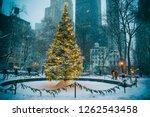 scenic winter evening view of... | Shutterstock . vector #1262543458