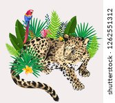 seamless print of leopard and... | Shutterstock .eps vector #1262551312