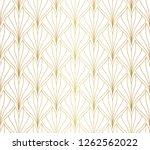 vector art deco style seamless...   Shutterstock .eps vector #1262562022