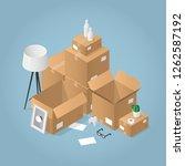isometric detailed concept... | Shutterstock .eps vector #1262587192