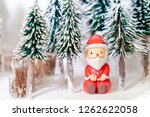 christmas winter snowman on... | Shutterstock . vector #1262622058