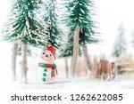 christmas winter santa claus... | Shutterstock . vector #1262622085
