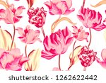 seamless fashion pattern with... | Shutterstock . vector #1262622442