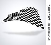 Checkered Flag Isolated On...