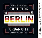 berlin typografhy design  ...r... | Shutterstock .eps vector #1262674252