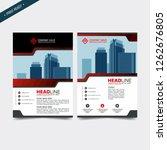 business bifold brochure or... | Shutterstock .eps vector #1262676805