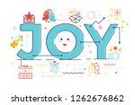 joy word lettering illustration ...   Shutterstock .eps vector #1262676862