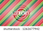 wildcat christmas colors style... | Shutterstock .eps vector #1262677942