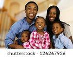 african american family... | Shutterstock . vector #126267926