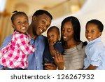 african american family... | Shutterstock . vector #126267932