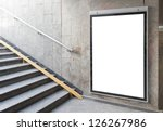 blank billboard or poster... | Shutterstock . vector #126267986