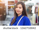 asian woman happy smiling in... | Shutterstock . vector #1262710042