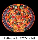 typical colored clay maya... | Shutterstock . vector #1262712478