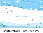 winter story illustration | Shutterstock .eps vector #1262725192