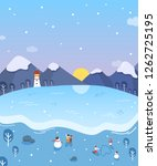 winter story illustration | Shutterstock .eps vector #1262725195