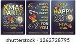 vector set of posters ...   Shutterstock .eps vector #1262728795