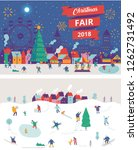 christmas market and holiday... | Shutterstock .eps vector #1262731492