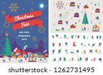 christmas market and holiday... | Shutterstock .eps vector #1262731495