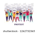 group of young men and women... | Shutterstock .eps vector #1262732365