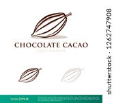 cacao fruit icon vector logo... | Shutterstock .eps vector #1262747908