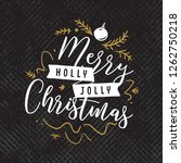 merry christmas. typography.... | Shutterstock .eps vector #1262750218
