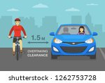 female driver overtaking a... | Shutterstock .eps vector #1262753728