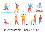 people winter action collection ... | Shutterstock . vector #1262771842