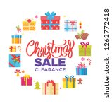 christmas sale clearance poster ... | Shutterstock . vector #1262772418