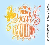 new year resolution lettering... | Shutterstock .eps vector #1262775262