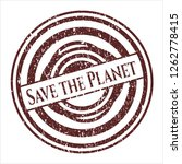 red save the planet distress... | Shutterstock .eps vector #1262778415