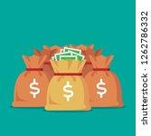 money bag illustration | Shutterstock .eps vector #1262786332