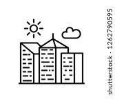 city building thin line icon....   Shutterstock . vector #1262790595