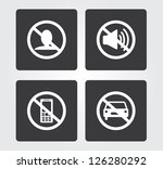 web icons set  bans | Shutterstock .eps vector #126280292