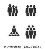 simple business set of people... | Shutterstock .eps vector #1262810158