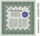 green formal invitation. easy...   Shutterstock .eps vector #1262817502
