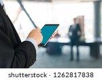 businessman use wireless... | Shutterstock . vector #1262817838